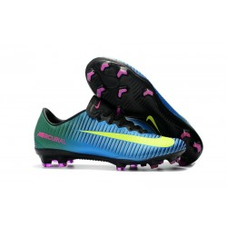 Nike New Mercurial Vapor XI FG ACC Soccer Shoes Blue Yellow