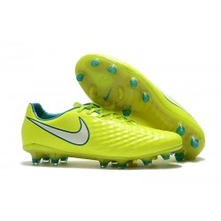 Nike Magista Opus II FG Firm Ground Football Shoes - Yellow White