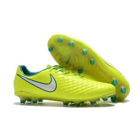 Nike Magista Opus II FG Firm Ground Football Shoes - Yellow White
