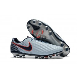 Nike Magista Opus II FG Firm Ground Football Shoes - Grey Red