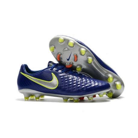 Nike Magista Opus II FG Firm Ground Football Shoes - Blue Silver