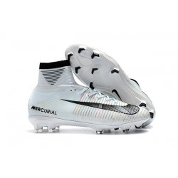 Nike Mercurial Superfly 5 CR7 FG New Football Boots White Blue Tint