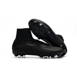 Nike Mercurial Superfly 5 FG New Football Boots All Black