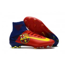 Nike Mercurial Superfly 5 FG New Football Boots Barcelona Red Yellow