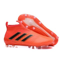 Mens adidas ACE 17+ Purecontrol FG 2017 Soccer Cleats Orange Black