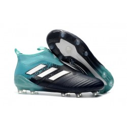 Mens adidas ACE 17+ Purecontrol FG 2017 Soccer Cleats Black Blue White