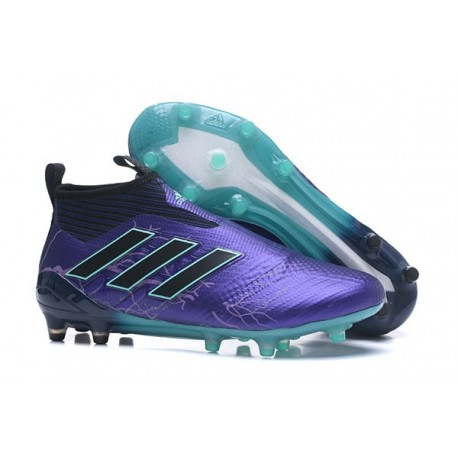 Mens adidas ACE 17+ Purecontrol FG 2017 Soccer Cleats Purple Black