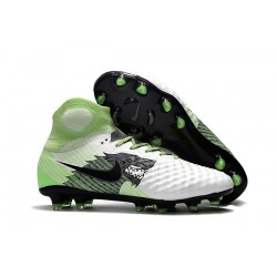 Nike Magista Obra 2 FG High Top Soccer Boots White Black Green