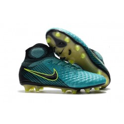 Nike Magista Obra 2 FG High Top Soccer Boots Blue Black