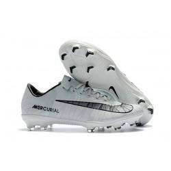 Nike Cristiano Ronaldo Mercurial Vapor XI CR7 FG ACC Soccer Shoes White Black