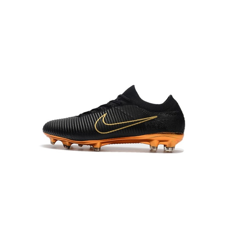b3227c0db8e0b Nike Mercurial Vapor Flyknit Ultra FG Football Cleats - Black Gold Maximize.  Previous. Next