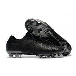 Nike Mercurial Vapor Flyknit Ultra FG Football Cleats - All Black