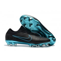 Nike Mercurial Vapor Flyknit Ultra FG Football Cleats - Black Blue