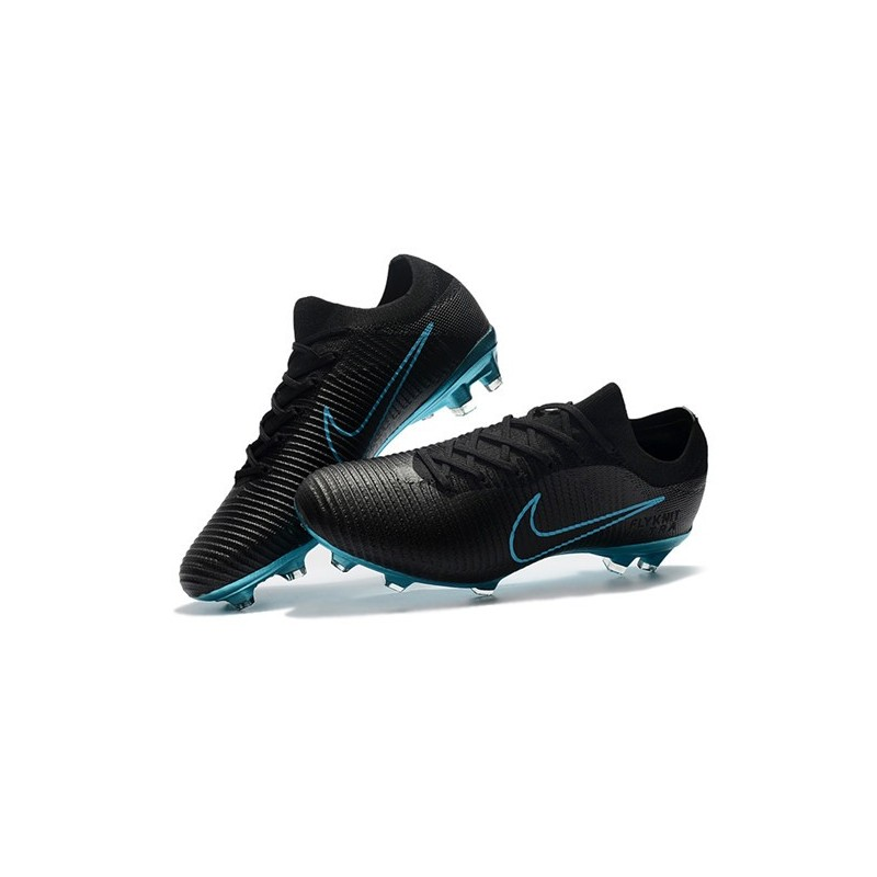 0e8152032c46 Nike Mercurial Vapor Flyknit Ultra FG Football Cleats - Black Blue Maximize.  Previous. Next