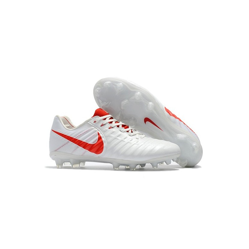 half off 508de 068da Nike Tiempo Legend VII FG Kangaroo Leather Shoes - White Red