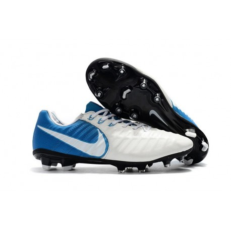 New Nike Tiempo Legend 7 FG ACC Football Boots - White Blue
