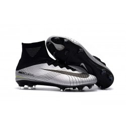 Nike Mercurial Superfly 5 FG New Football Boots Silver Black