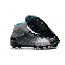 New Nike Hypervenom Phantom 3 DF FG - Black Grey