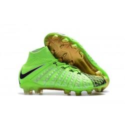 New Nike Hypervenom Phantom 3 DF FG - Green Black