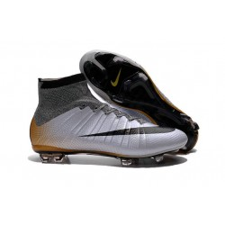 Nike Mercurial Superfly FG ACC New Shoes Grey Black Orange