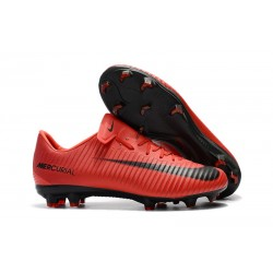 Nike New Mercurial Vapor XI FG ACC Soccer Shoes Red Black