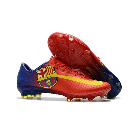 red mercurial football boots