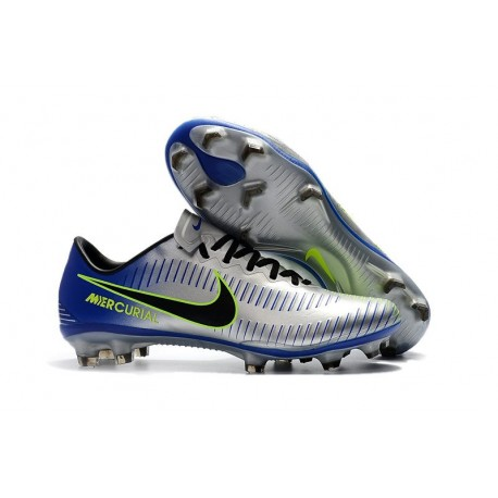 2018 shoes unique design buy online Nike Mercurial Vapor 11 FG New Football Boot - Silver Blue