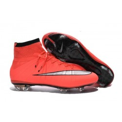 News 2016 Nike Mercurial Superfly FG ACC Cleats Mango Silver