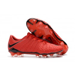 Nike Hypervenom Phantom 3 FG Men Soccer Shoes - Red Black