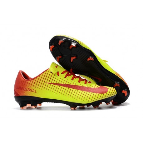 Nike Mercurial Vapor 11 FG New Football Boot - Yellow Red