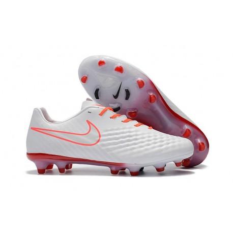 Nike Magista Opus II FG Firm Ground Football Shoes - White Orange