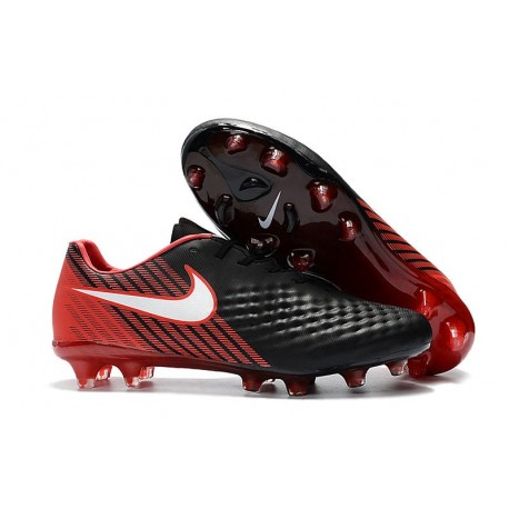Nike Magista Opus II FG Firm Ground Football Shoes -Black Red