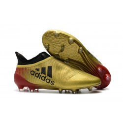 adidas X 17+ Purespeed FG Football Boots Gold Red Black