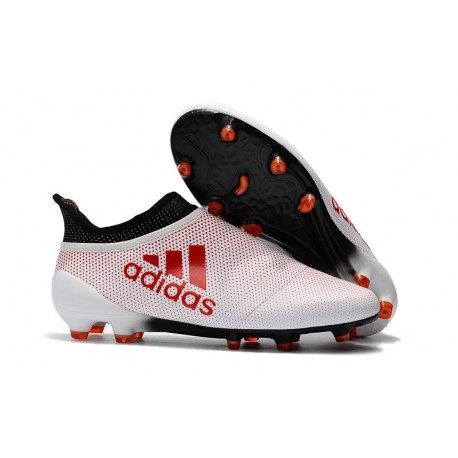 size 40 b57c3 0dc4a adidas X 17+ Purespeed FG Football Boots White Red