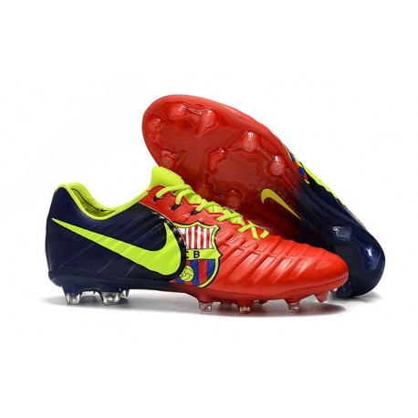 New Nike Tiempo Legend 7 FG ACC Football Boots - Red Barcelona