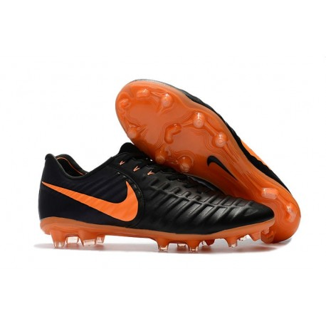 reputable site bb1b2 c32ac New Nike Tiempo Legend 7 FG ACC Football Boots - Black Orange