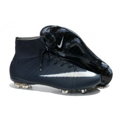 Nike Mercurial Superfly Iv FG Mens Firm Ground Soccer Cleats Royal Blue White