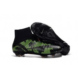 News 2016 Nike Mercurial Superfly FG ACC Cleats Camo Green Black