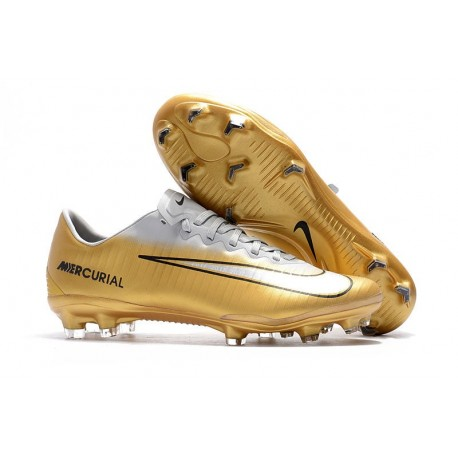 Nike Mercurial Vapor 11 FG New Football Boot - White Golden