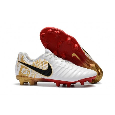 New Nike Tiempo Legend 7 FG ACC Football Boots - White Golden