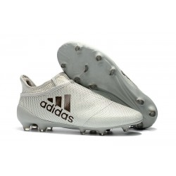 New adidas X 17+ Purespeed FG Soccer Cleats White Black