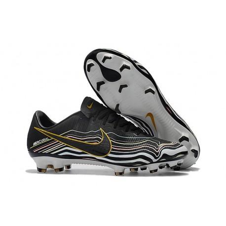 Nike Mercurial Vapor XI FG Soccer Cleat - Black White Golden
