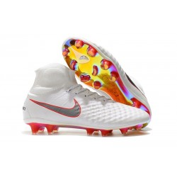 Nike Magista Obra II FG News Football Boots White Grey Crimson