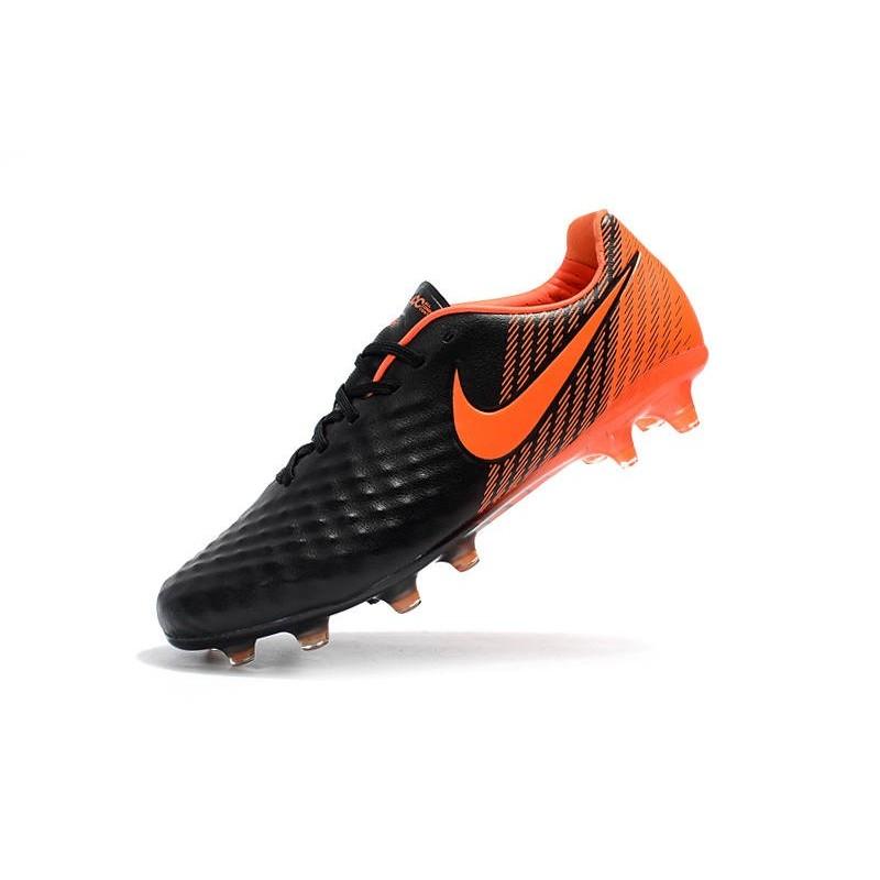 grossiste 16898 2f2db New Nike Magista Opus 2 FG Soccer Boots Black Orange