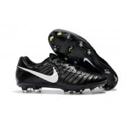 Nike Tiempo Legend VII Elite FG Mens Cleats - Black White