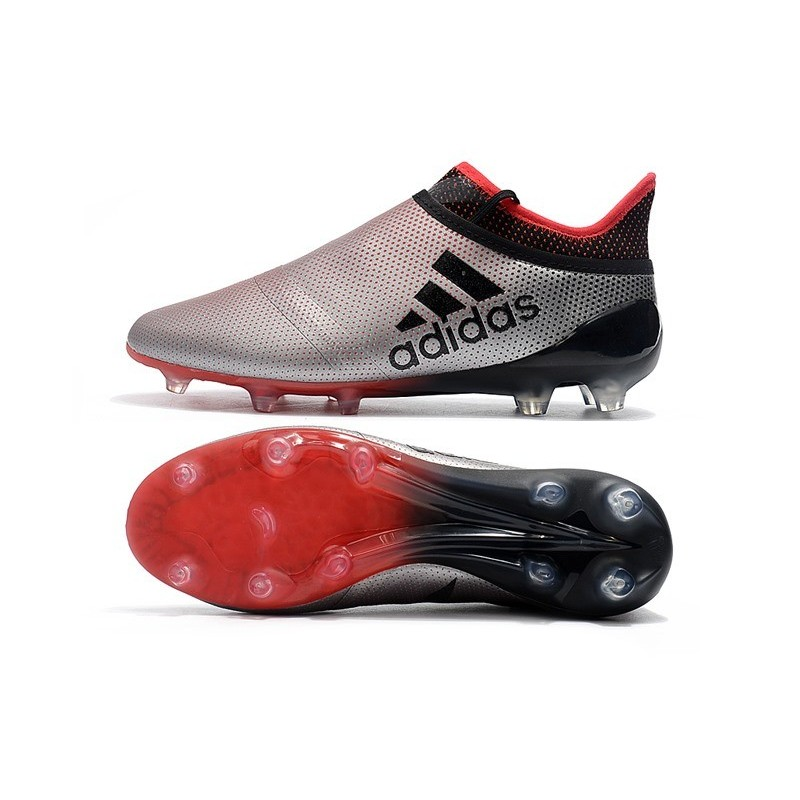 New adidas X 17+ Purespeed FG Soccer Cleats Silver Red Black Maximize.  Previous. Next c2a06816d