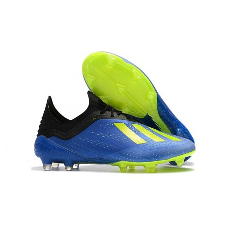 adidas X 18.1 FG New Soccer Cleats - Blue/Solar Yellow