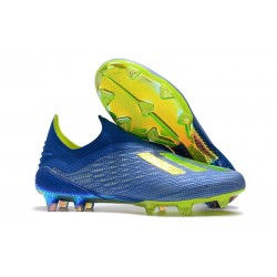 adidas X 18+ FG Mens Football Boots - Solar Blue Yellow