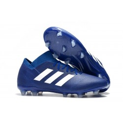 adidas Nemeziz Messi 18.1 FG Soccer Cleats - Blue White
