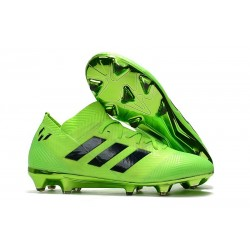 adidas Nemeziz Messi 18.1 FG Soccer Cleats - Green Black